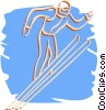 Vector Clip Art image  of a ski jumper