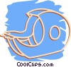 Vector Clip Art image  of a tape dispenser