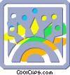 decorative flourishes Vector Clipart picture