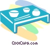 Asian table Vector Clipart picture