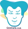 Vector Clip Art graphic  of an Asian face