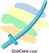 Vector Clipart graphic  of a samurai sword