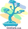 bonsai tree Vector Clip Art graphic