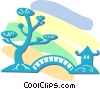 Japanese scene Vector Clipart picture