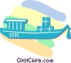 Japanese boat Vector Clipart illustration