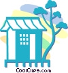 Vector Clipart picture  of a Japanese house