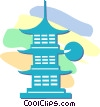 temple Vector Clipart graphic
