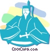 Japanese man Vector Clipart picture