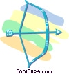 bow and arrow Vector Clip Art picture