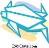 Vector Clip Art picture  of a origami