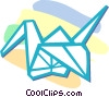 origami Vector Clip Art graphic