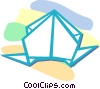 Vector Clip Art image  of a origami