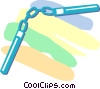 Vector Clipart illustration  of an Asian weapons