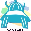 Vector Clipart graphic  of an Asian headgear