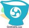 Asian cup/bowl Vector Clip Art image