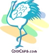 Vector Clipart graphic  of a heron