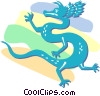 Asian dragon Vector Clipart picture