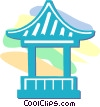 Vector Clipart illustration  of a temple