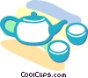 Vector Clipart illustration  of a Japanese rice tea