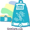 Vector Clip Art image  of a Japanese luggage