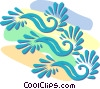 decorative floral designs Vector Clipart illustration