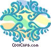 decorative floral designs Vector Clip Art picture