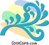 Vector Clipart picture  of a decorative floral designs