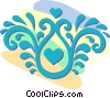 decorative floral designs Vector Clipart graphic