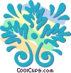 Vector Clipart illustration  of a decorative floral designs