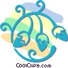 decorative floral designs Vector Clip Art graphic