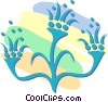 Vector Clipart graphic  of a decorative floral designs