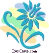 decorative floral designs Vector Clipart image