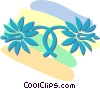 Vector Clip Art graphic  of a decorative floral designs