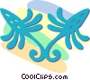 decorative floral designs Vector Clip Art image