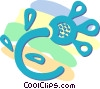 Vector Clip Art image  of a decorative floral designs