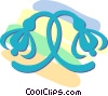 Vector Clip Art picture  of a decorative floral designs