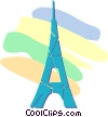 Eiffel Tower Vector Clipart illustration
