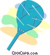 hand fan Vector Clip Art graphic