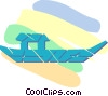Japanese boat Vector Clipart graphic