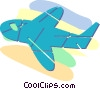 Vector Clip Art picture  of an airplane