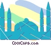 building in India Vector Clipart picture