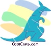 kangaroo Vector Clipart illustration