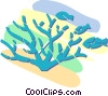Vector Clipart image  of a fish feeding on sea life