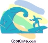 surfing Vector Clipart graphic