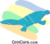 duck billed platypus Vector Clipart illustration