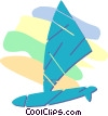 Vector Clipart illustration  of a windsurfer