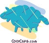 Vector Clip Art image  of a sheep