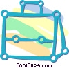 suitcase Vector Clipart illustration