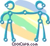 Vector Clip Art image  of a friends