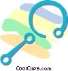 Vector Clip Art graphic  of a baby rattle
